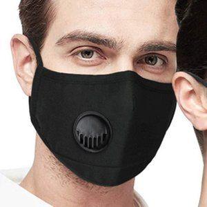 Reusable Black Cotton Face Mask with Respirator